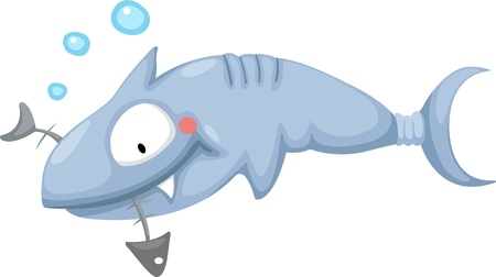 Illustration of a shark Vector
