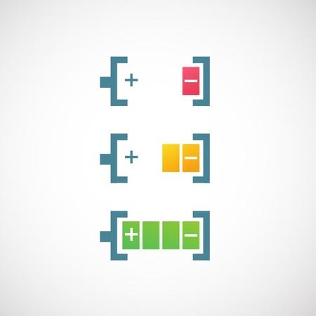 pila: icono de los indicadores de nivel de carga de bater�a