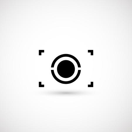 objetivo: Símbolo de la cámara Vectores