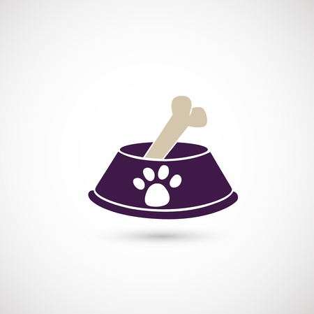 dog biscuit: dog bowl icon