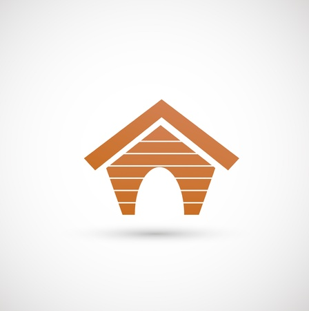 roof line: perro icono de la casa