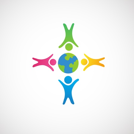 hands holding earth: people around earth ,love on the earth icon