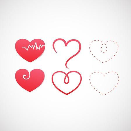 corazon en la mano: icono del coraz�n Vectores
