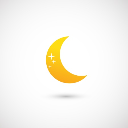 moon icon  Stock Vector - 19191939
