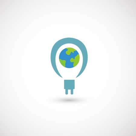 Eco bulb light icon Vector