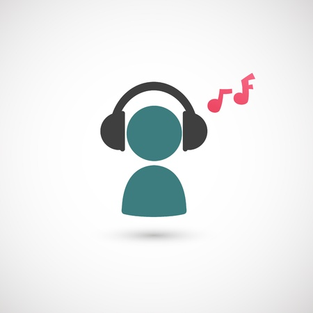 listener: listening to music icon