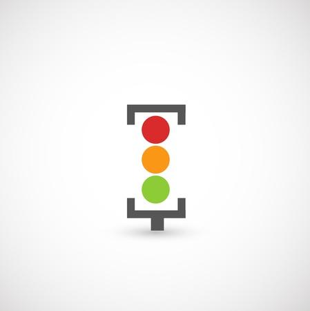 semaphore: Traffic lights icon vector