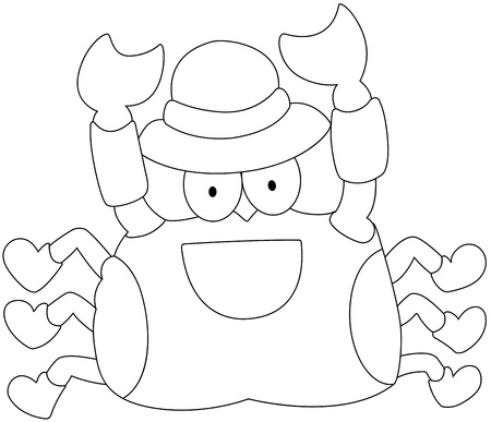 illustration of a crab on a white background vector Stock Vector - 19192149