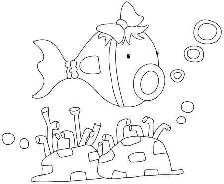 Illustration of a fish on a white background vector Stock Vector - 19192151