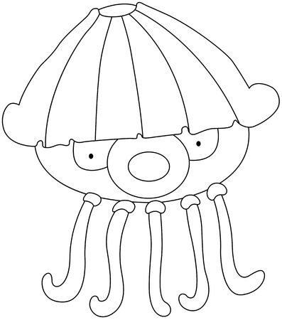illustration of a Jellyfish on a white background Stock Vector - 19192161