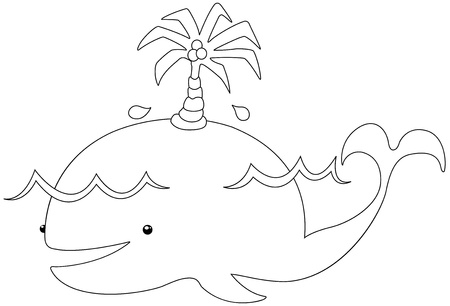 illustration Whale vector Vector