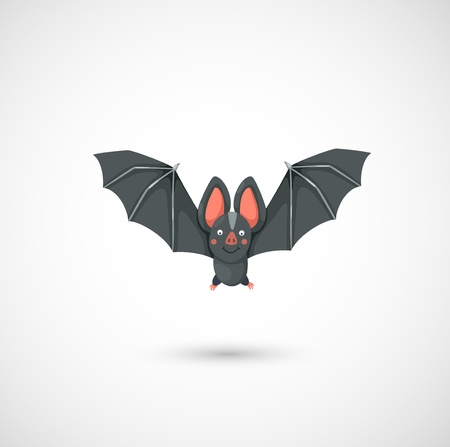 illustration of isolated cartoon bat flying Stock Vector - 19717529