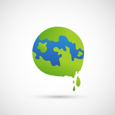 end of the world: global warming icon