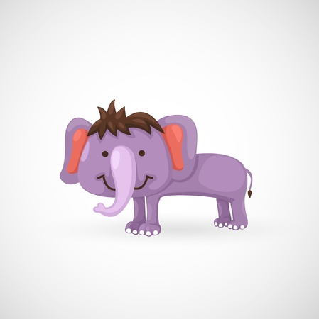 shrank: illustration of isolated elephant  Illustration