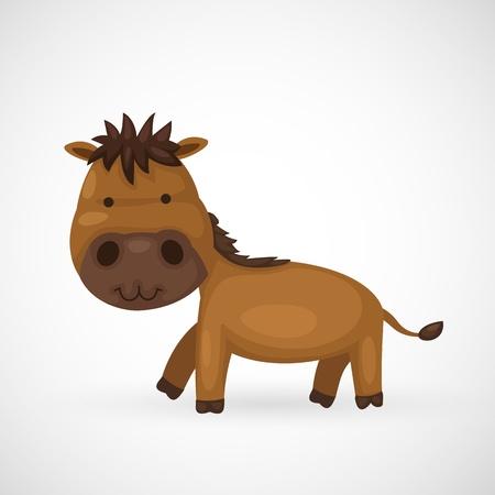 nostrils: illustration of isolated horse  Illustration