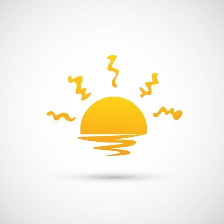 icono del sol Ilustración de vector