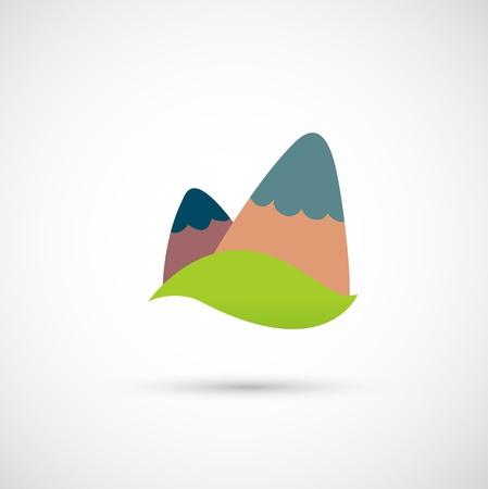 mountain range icon  Vector