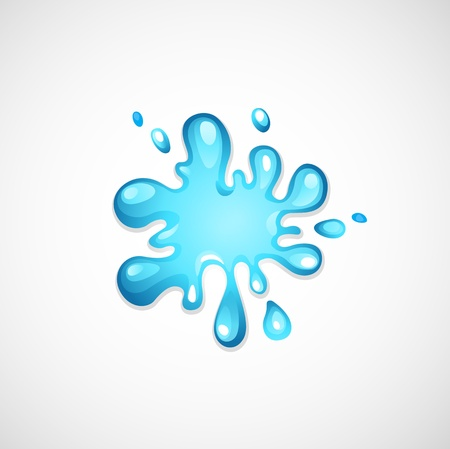 pour water: water splash  Illustration