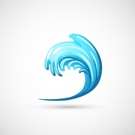 water surface: water wave