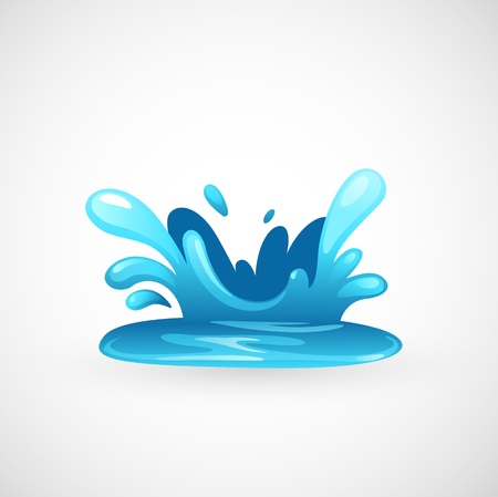 paint drip: water splash  Illustration