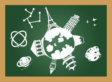 illustration of isolated  education blackboard  Vector