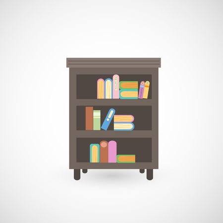 illustration of isolated bookshelf  Stock Vector - 20194579