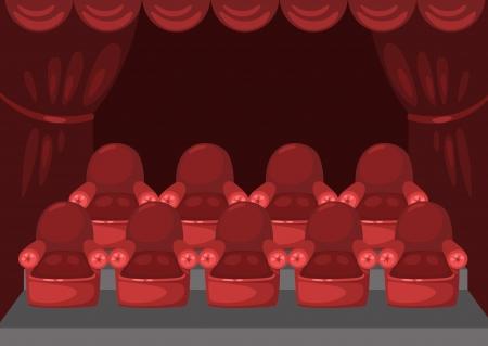 illustration of isolated cinema auditorium  Vector