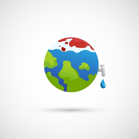 thaw: illustration of isolated global warming icon