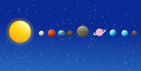systeme solaire: illustration des ic�nes du syst�me solaire isol�es