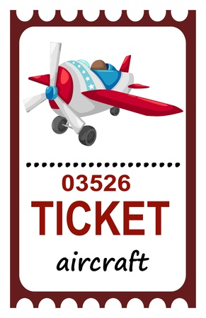 illustration of isolated ticket aircraft  Vector