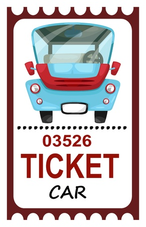 chauffeur: illustration of isolated ticket travel