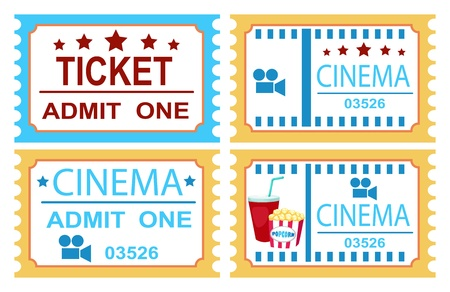 illustration of isolated cinema ticket  Stock Vector - 20194376