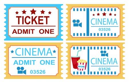 illustration of isolated cinema ticket Stock Vector - 20194376