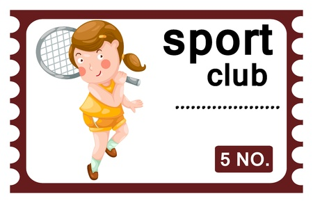 sport club: illustration of isolated ticket sport club
