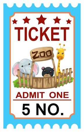illustration of isolated ticket  Vector