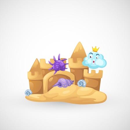 castle sand: ilustraci�n del vector aislado arena castillo