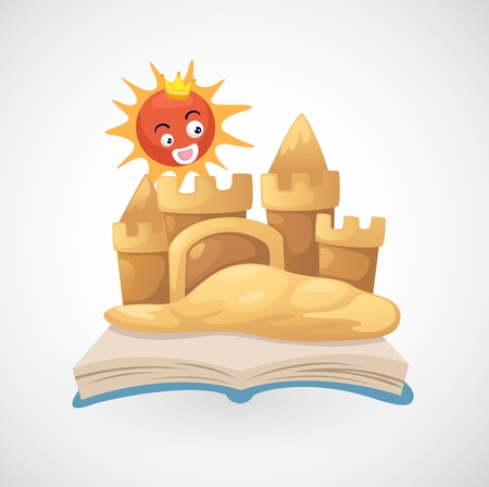illustration of isolated sand castle vector Vector