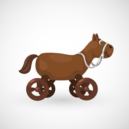 illustration rocking horse vector Vector