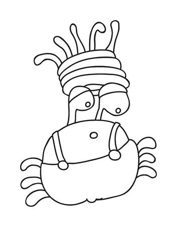 Animales Ilustración Vectorial Silueta Del Cangrejo Ilustraciones ...
