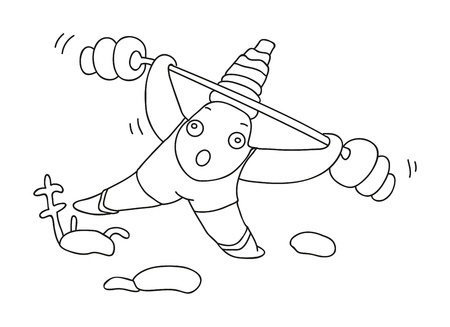 seafish: illustration of isolated hand drawn starfish vector