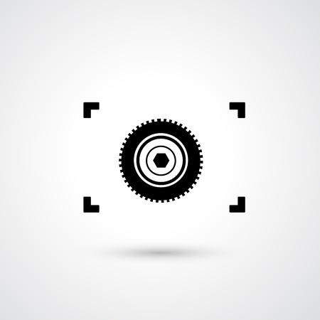 Camera symbol vector Stock Vector - 21163734
