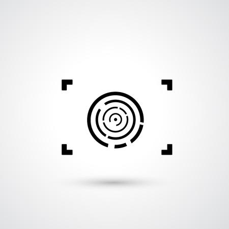 camera symbol: Camera symbol vector  Illustration