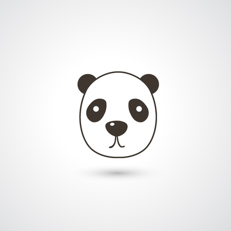 Panda head icon vector Stock Vector - 21163771
