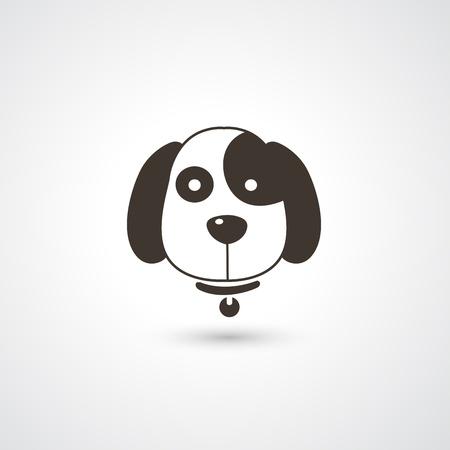 tete chien: t�te de chien vecteur ic�ne