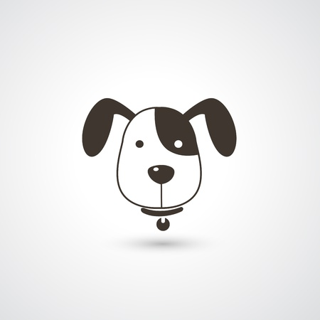 puppy love: dog head icon vector