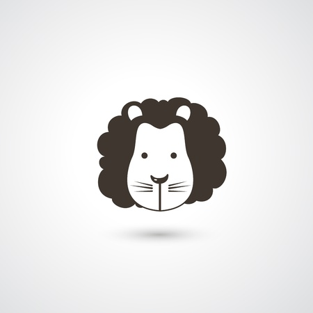 Lion head icon vector  Vector