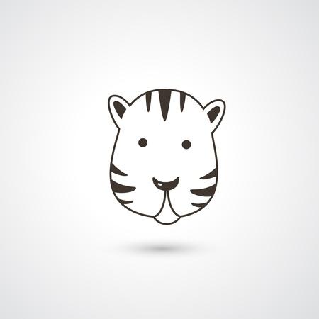 Tiger head icon vector  Stock Vector - 21163780