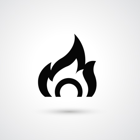 Fire icon Stock Vector - 21163796
