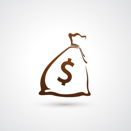 simplistic icon: Moneybag icon
