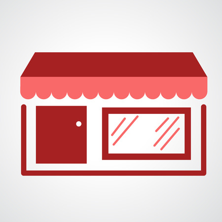 grocery store: storefront icon isolated on white background